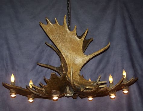 moose pool table antler chandelier rustic deer lodge