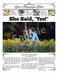 front page wedding announcement try this 11quotx14 With wedding announcement template for newspaper