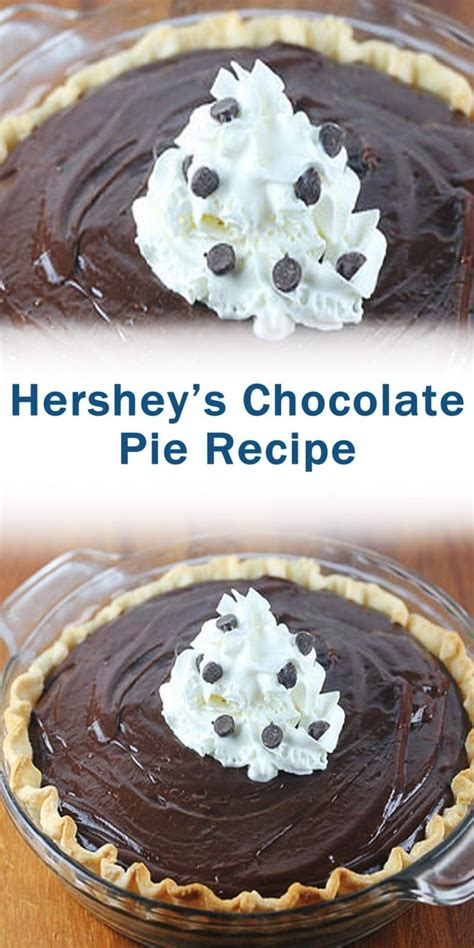 This is a quick and simple recipe i found at hershey's kitchens that turned out creamy and delicious. Hershey's Chocolate Pie Recipe in 2020   Chocolate pie recipes, Baked dessert recipes, Dessert ...