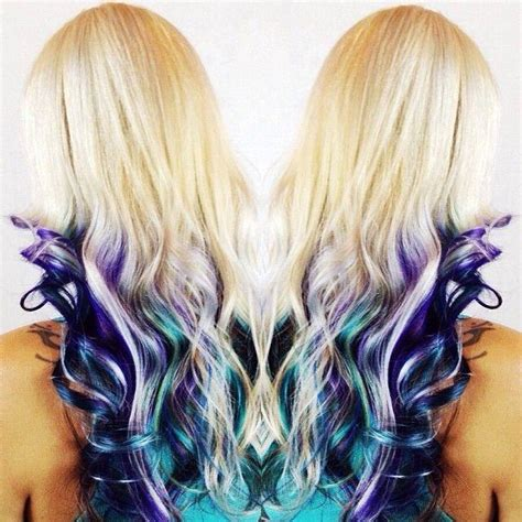 Blonde And Peekaboo Colors Hairstyles How To