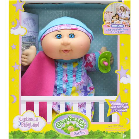 """Cabbage Patch Kids 12 5"""" Naptime Blonde Baby Lavender"""