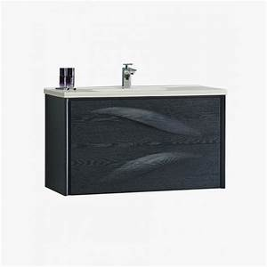 aquavento meuble salle de bain design chene noir With meuble salle de bain 80 cm de large