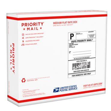 caja prepaga flat rate mediana  priority mail
