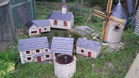 troc echange moulin a vent maison eglise pour deco de