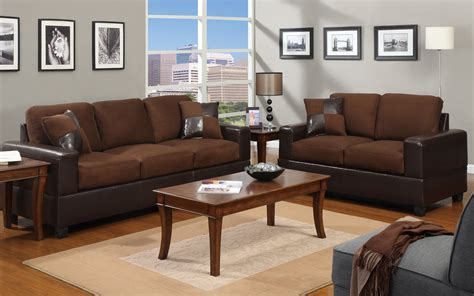 Sofa Set In Walmart by 2 Modern Microfiber And Faux Leather Sofa Seat