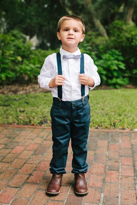 navy pants  bow tie ring bearer attire