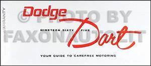 1965 Dodge Coronet  U0026 Dart Repair Shop Manual Reprint