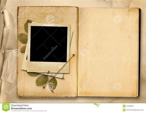 fotoalbum design vintage photo album with photo frame stock photos image 31959623