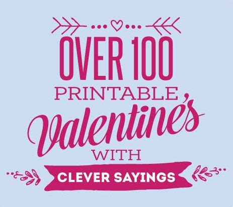 printable valentines cards  cute  clever