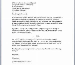 Sample Payment Reminder Letter  Smart Letters
