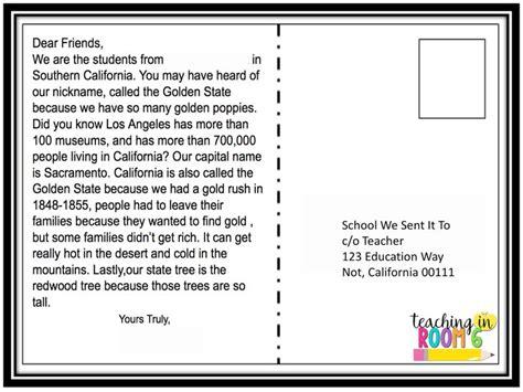 state postcard exchange adding  bit  tech teacher