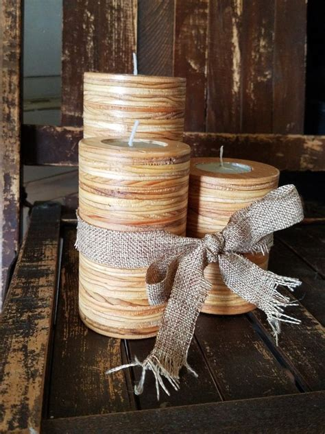 scraps plywood candle holders craft