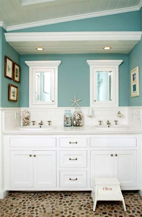 Cool Colors For Bathrooms by Themed Bathroom Cool Blue Wall