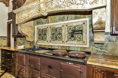 aga cuisine mansion boasts 120k aga oven marble vent and