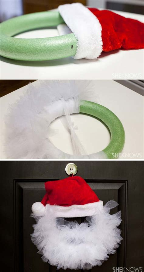 awesome christmas decorations created  pool noodles