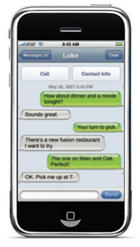 iphone texting iphone text message