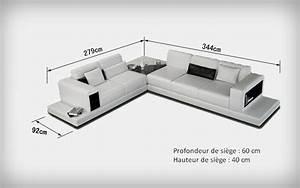 Canap D39angle Design En Cuir Arezzo XL Table Intgre Pop Design