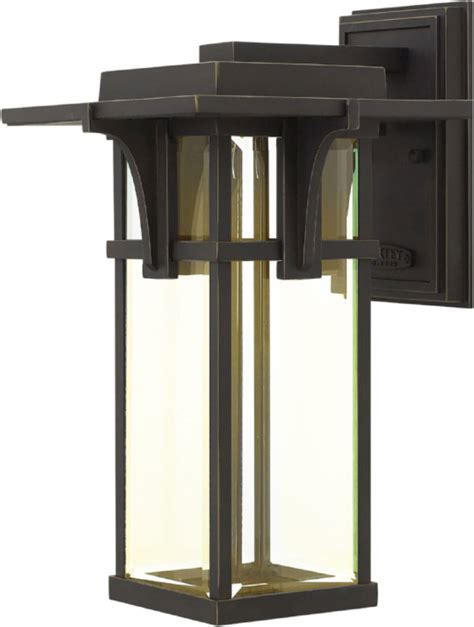 hinkley 2324oz led manhattan rubbed bronze led outdoor