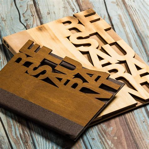 wooden menu covers laser cut smart hospitality supplies