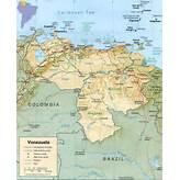 Map of Venezuela, Caracas