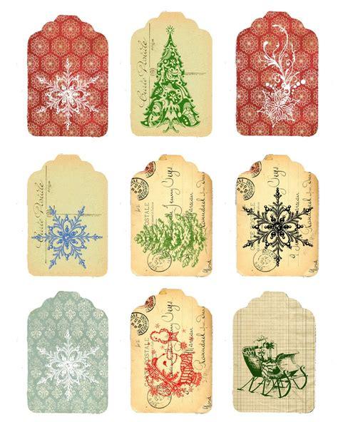 free christmas tags vintage printable christmas pinterest