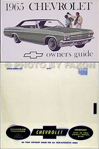 1965 Chevy Owner U0026 39 S Manual Reprint Impala  Ss Caprice Bel