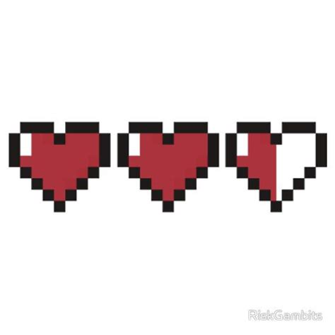 8bit Hearts  Legend Of Zelda Sticker