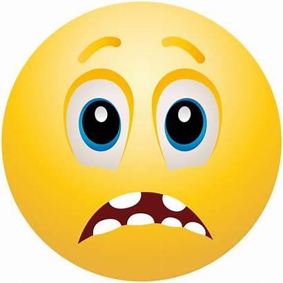 Emoji Scared Clipart Clip Face Emoticon Scary