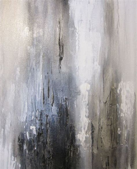 Abstract Black Gold Painting by 40 X 30 Abstract Painting White Gold Black Door