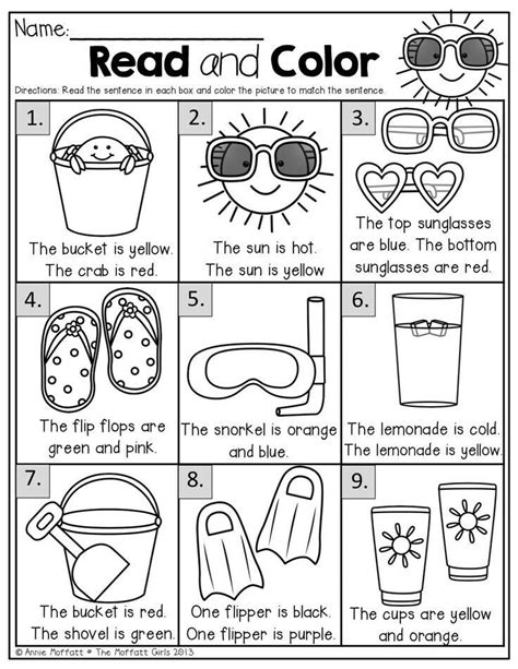 Pin by Wendy Sewell on Reading | Summer worksheets
