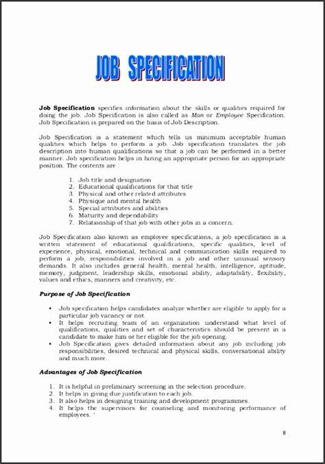 job description statement template sampletemplatess