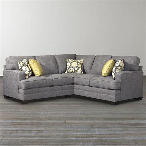 l shaped sectional sofa custom l shaped sectional bassett furniture