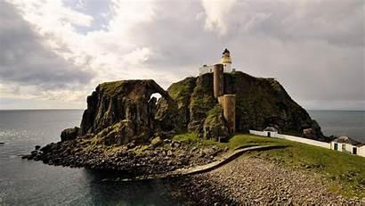 Lighthouse Ocean Wallpapers Widescreen Sea Background Beacon