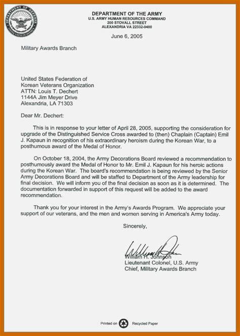 Army Letter Format 8 9 Letter Formats Resumetablet