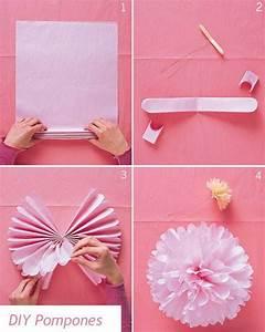 Blumen Aus Seidenpapier : pompom blume selber machen home servietten dekoration und basteln ~ Orissabook.com Haus und Dekorationen