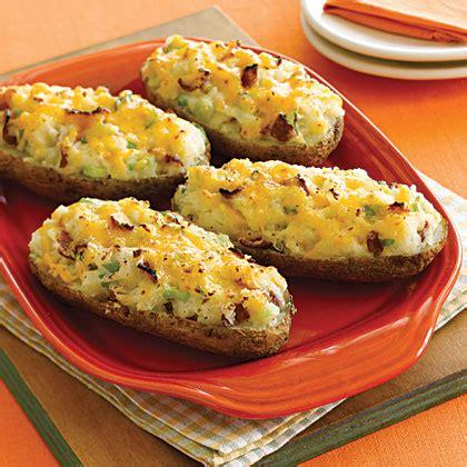 cheesy  baked potatoes recipe myrecipes