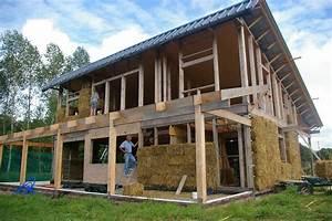maison paille ossature bois images With maison paille ossature bois