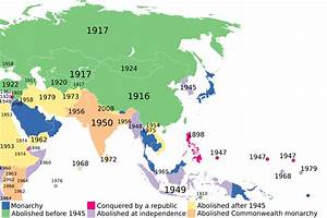 The Abolition Of Monarchies In Asia And Its Surroundings