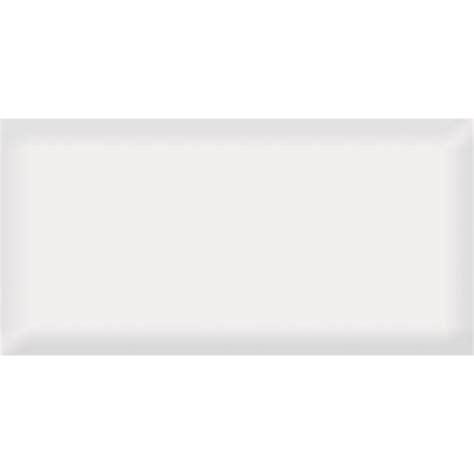 johnson tiles 200 x 100mm gloss white bevelled edge