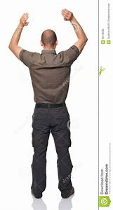 Man back view stock photo. Image of white, portrait, arms ...