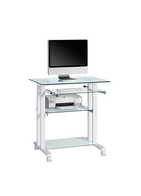 bureau pour ordinateur conforama computerwagen mod mj004 metall weiß h c möbel