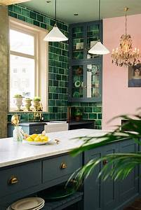 30 green kitchen decor ideas that inspire digsdigs With kitchen colors with white cabinets with tropical fish wall art