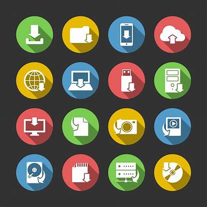 Internet Symbols Icons Technology Vector Icon Clipart
