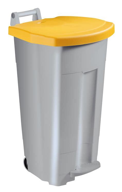 poubelle cuisine jaune poubelle de cuisine rossignol 90 l haccp couvercle jaune