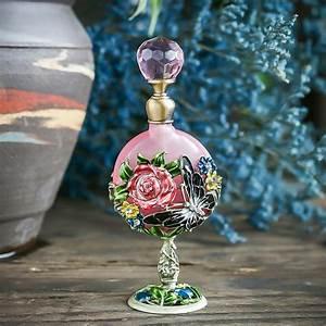 H, U0026d, 7ml, Vintage, Perfume, Bottle, Fancy, Pink, Rose, Pattern, Restoring, Ancient, Antique, Perfume, Bottle