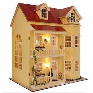 diy maison de poupees en bois miniature fabrique kit large With beautiful modele de maison en l 8 image maison de barbie
