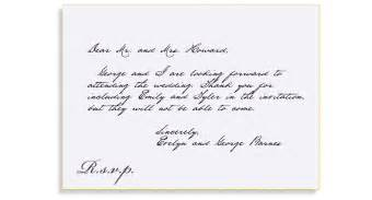 reply to wedding invitation rsvp etiquette traditional rsvp folled out