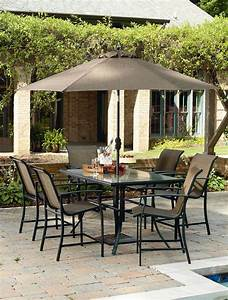 Review Garden Oasis Harrison 7 Piece Sling High Dining ...