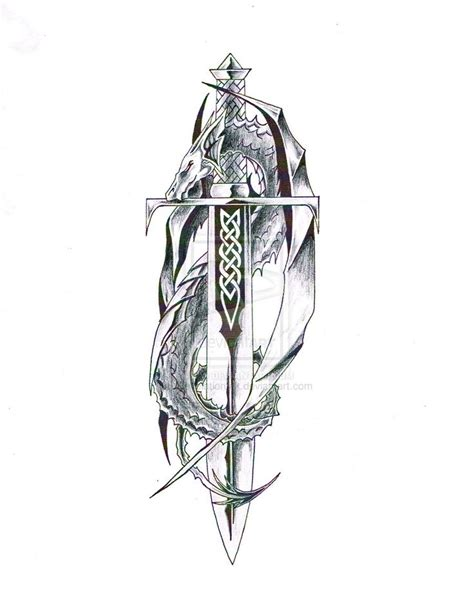 Celtic Sword Shield Tattoo Designs  Dragon With Sword 1