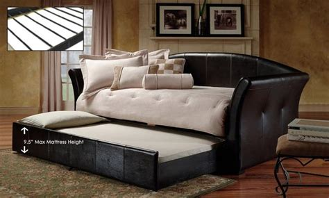 deals  single leatherette bedsofa  pullout